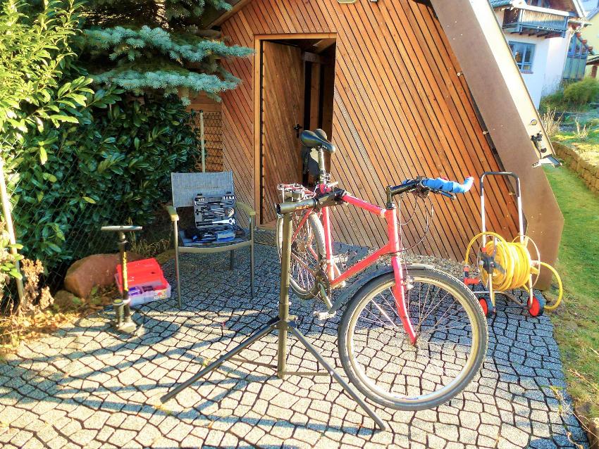 Ecolodge Fahrradplatz